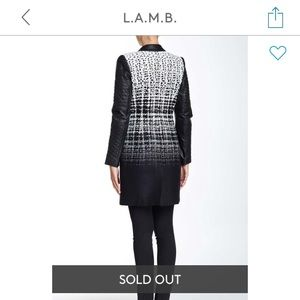 L.A.M.B. Jackets & Coats - L.A.M.B. Jacquard Cashmere/Leather coat - 4